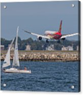 Hainan Airlines 787 Dreamliner Landing At Logan Acrylic Print