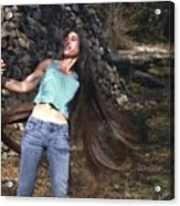 Hair - Long Beautiful Hair-pop Song Art Acrylic Print
