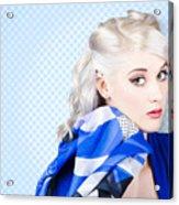 Hair And Beauty Fashion Portrait Acrylic Print