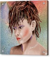 Hairstyle Of Colors Acrylic Print