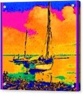 Haitian Fishing Boats Acrylic Print