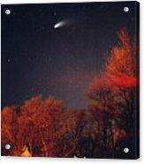 Hale-bopp Comet Acrylic Print