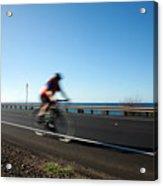 Haleakala Highway Bike Ride Acrylic Print