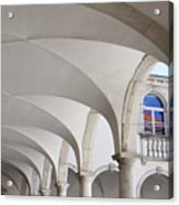 Half Arched Portal Of The Minorite Monastery Cloister Attached T Acrylic Print