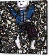 Half Buried Doll Acrylic Print