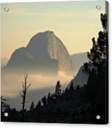Half Dome And Fog At Olmsted Point In Yosemite Acrylic Print
