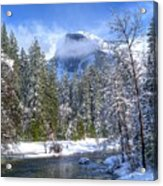 Half Dome And The Merced River Acrylic Print
