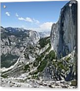 Half Dome And Yosemite Valley From The Diving Board - Yosemite Valley Acrylic Print