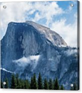 Half Dome In The Clouds Acrylic Print