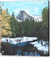 Half Dome Snow Acrylic Print