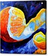 Half Peeled Orange Acrylic Print
