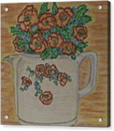 Hall China Orange Poppy And Poppies Acrylic Print