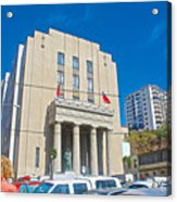Hall Of Justice In Valparaiso-chile  Acrylic Print