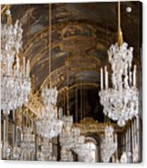 Hall Of Mirrors Palace Of Versailles France Acrylic Print