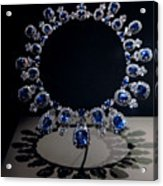 Hall Sapphire And Diamond Necklace Acrylic Print