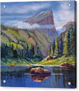 Hallett Peak Acrylic Print