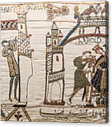 Halleys Comet Of 1066, Bayeux Tapestry Acrylic Print
