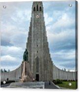 Hallgrimskirkja - The Largest Church In Iceland Acrylic Print