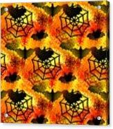 Halloween Abstract - Happy Halloween Acrylic Print
