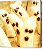 Halloween Banana Ghosts Acrylic Print