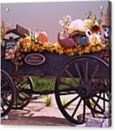 Halloween Cart Full Of Fall Harvest Goodies  Acrylic Print
