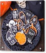 Halloween Cookies Acrylic Print