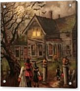 Halloween Dare Acrylic Print by Tom Shropshire