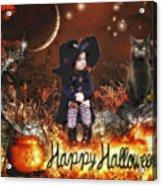 Halloween Girl Acrylic Print