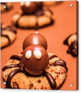 Halloween Homemade Cookie Spiders Acrylic Print