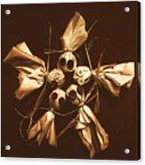 Halloween Horror Dolls On Dark Background Acrylic Print