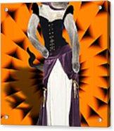 Halloween Hussy Acrylic Print