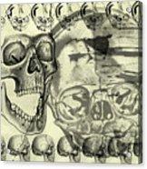 Halloween In Grunge Style Acrylic Print