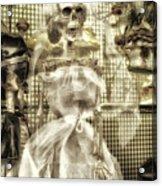 Halloween Mrs Bones The Bride Vertical Acrylic Print