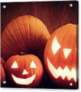 Halloween Pumpkins Glowing, Jack-o-lantern Acrylic Print