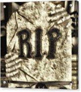 Halloween Rip Rest In Peace Headstone Acrylic Print
