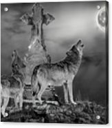 Halloween - Spirits Of The Wolf Acrylic Print