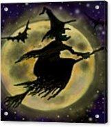 Halloween Witch Acrylic Print