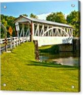 Halls Mill Covered Bridge Landscape Acrylic Print