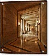 Hallway In City Hall Sf Acrylic Print