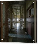 Hallway With Solitary Confinement Cells In Prison Hospital Acrylic Print