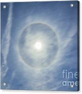 Halo Around Full Moon In A Sky Acrylic Print