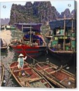 Halong Bay Harbor Scene Acrylic Print