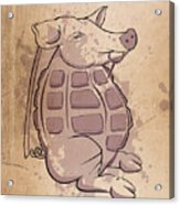 Ham-grenade Acrylic Print by Joe Dragt