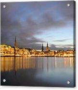 Hamburg Alster Christmas Time Acrylic Print