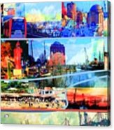Hamburg Elbe Acrylic Print