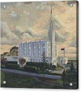 Hamilton New Zealand Temple Acrylic Print by Jeff Brimley