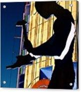 Hammering Man Acrylic Print by Tim Allen