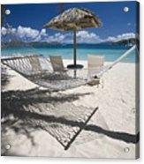 Hammock On The Beach Acrylic Print