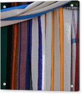 Hammocks In Colored Patterns Acrylic Print