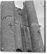 Hammond Castle Detail - Black And White Acrylic Print